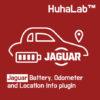 Huhalab Jaguar Battery, Odometer and Location Info plugin