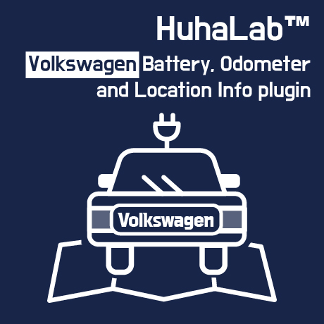 Huhalab Volkswagen Battery, Odometer and Location Info plugin