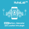 Huhalab BMW Battery, Odometer and Location Info plugin