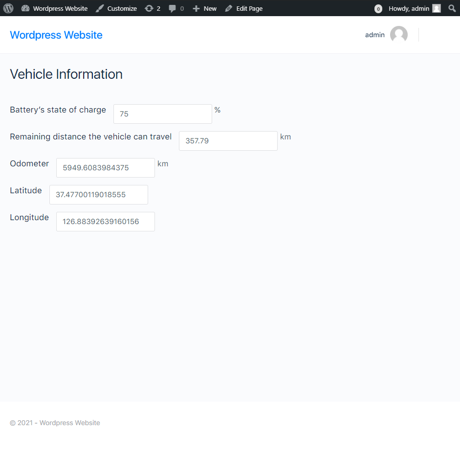 Huhalab Battery, Odometer and Location Info plugin
